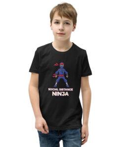 Boy Social Distance Ninja Youth Short Sleeve T-Shirt